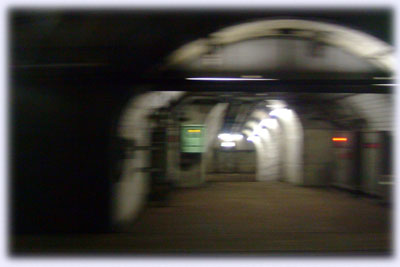 竜飛海底駅の通路