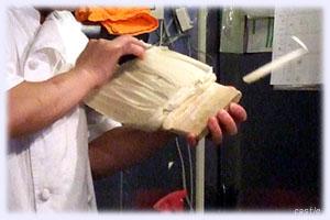 刀削麺作り