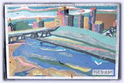 別府湾と大分川