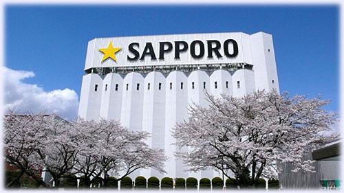 サッポロビール仙台工場の桜
