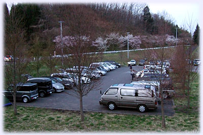 早朝5時の駐車場