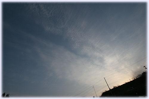 朝5時半の空