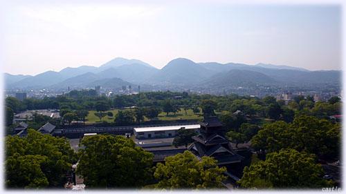 熊本城からの眺め