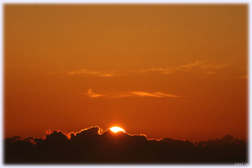 磐梯吾妻スカイラインから眺めた朝陽