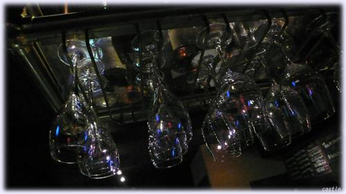 グラスのシャンデリア